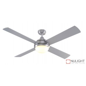 Caprice DC 1300 DC Ceiling Fan with LED Light Brushed Steel MEC