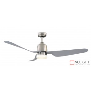 Manly 1300 DC Ceiling Fan with LED Light Brushed Chrome MEC