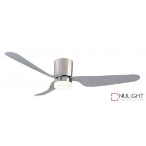 City 1300 DC Ceiling Fan with LED Light Brushed Chrome MEC