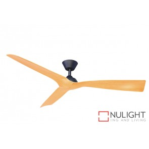 Trinidad II DC Ceiling Fan Natural Blade Black Base MEC