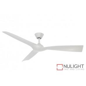 Trinidad II DC Ceiling Fan White Blade White Base MEC