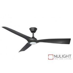 Trinidad II LED DC Ceiling Fan Black Blade Black Base MEC