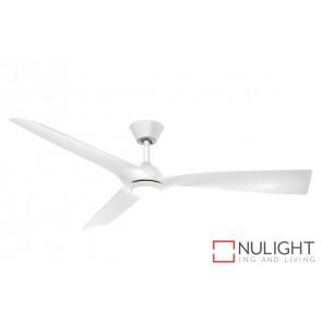 Trinidad II LED DC Ceiling Fan White Blade White Base MEC