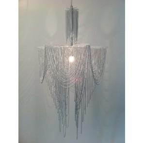 1 Light Pendant Chrome chain drapes Fiorentino