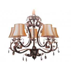 5 Lights Bronze Pendant Fiorentino