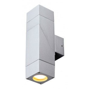 Larno 2 Light Up / Down Wall Bracket in Polished Aluminium Fiorentino Lighting