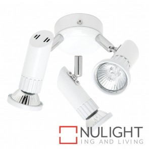 Pronto 3 light Fan Light Brushed Chrome MEC