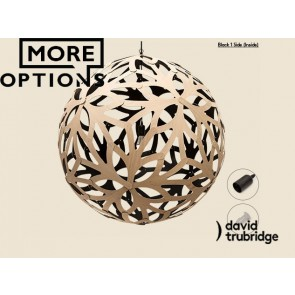 Floral Black 1 Side Inside David Trubridge Pendant DAV