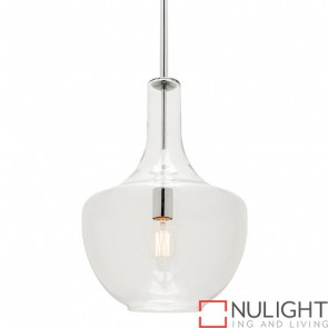 Fontaine 1 Light Large Pendant Chrome COU