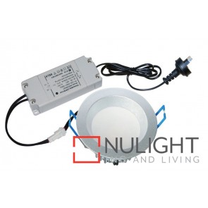 Downlight LED FIXED Dimmable SILVER Round 4000K 10W 90D 70mm IP54 ICF (750 Lumens)  DOM CLA