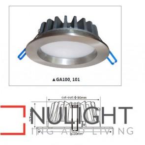 Downlight LED FIXED Satin Chrome Round 3000K 10W 90D 90mm IP54 ICF (700 Lumens)  DOM CLA