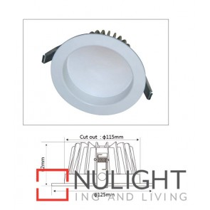 Downlight LED FIXED Dimmable White Round 3000K 13W 90D 115mm IP54 ICF (800 Lumens) CLA