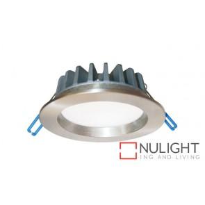Downlight LED FIXED Dimmable Satin Chrome Round 3000K 10W 90D 90mm IP54 ICF  (700 Lumens)  DOM CLA