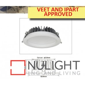Downlight LED FIXED White Round 4000K 38W 90D 210mm IP54 ICF (3200 Lumens) IPART APP  DOM CLA