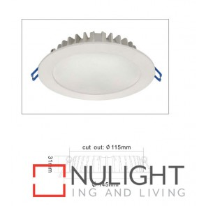 Downlight LED FIXED SLIM Dimmable White Round 3000K 12W 90D PA Flush diffuser 115mm IP54 ICF (1020 Lumens)  DOM CLA