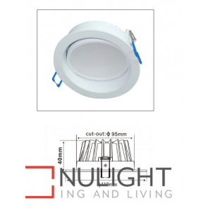 Downlight LED GIMBAL Dimmable White Round 5000K 10W 90D 95mm IP20 ICF (800 Lumens)  DOM CLA