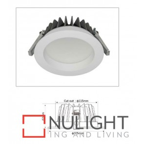 Downlight LED FIXED White Round 4000K 13W 90D 115mm IP54 ICF (900 Lumens)  DOM CLA