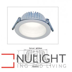 Downlight LED FIXED Dimmable White Round 5000K 23W 210mm IP54 ICF (1800 Lumens) CLA
