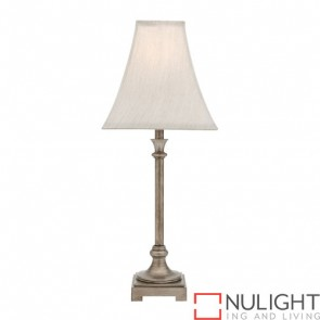 Grace 1 Light Table Lamp Antique Silver COU