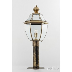 Greenwich Traditional Outdoor Brass Made Post Light Elegant Range Citilux