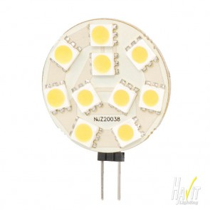 1.5W SMD LED Bi Pin 100lm 3500k Warm White G4 - 12V Havit