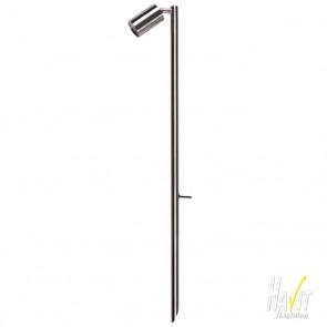 12V LED Large Adjustable Outdoor Spike Spotlight in Stainless Steel Havit