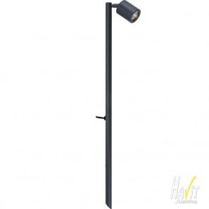 12V LED One Light Adjustable Outdoor Spike Spotlight in Black Havit