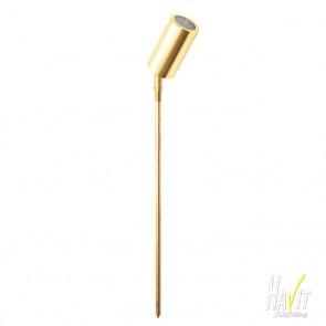 12V LED Single Adjustable Spike Spotlight - 486mm Spike Gold Anodised Aluminium Havit
