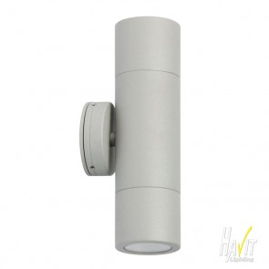 12V LED Tivah Outdoor Up/Down Wall Pillar Light in Silver Havit