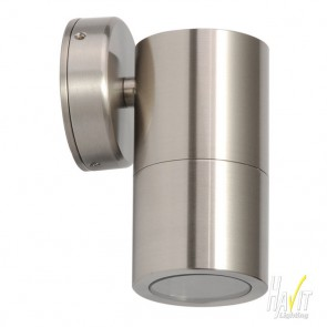 12V LED Tivah Small Outdoor Fixed Wall Pillar Light Long Body in Stainless Steel Havit