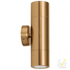 12V LED Tivah Up/Down Wall Pillar Light in Solid Copper Havit