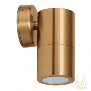 240V Tivah Large Outdoor Fixed Wall Pillar Light Long Body in Solid Copper Havit