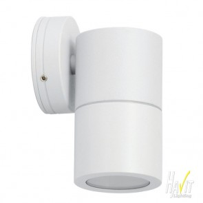 240V Tivah Large Outdoor Fixed Wall Pillar Light Long Body in White Havit