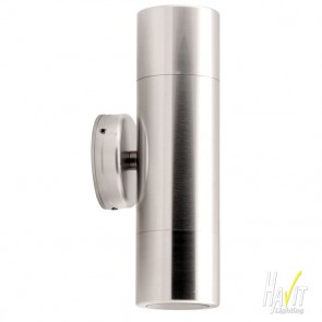 240V Up / Down Square Base Long Body Wall Pillar in Anodised Aluminium Havit