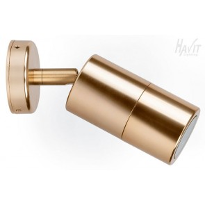 Aluminium Single Adjustable Wall Pillar Light in Gold Havit