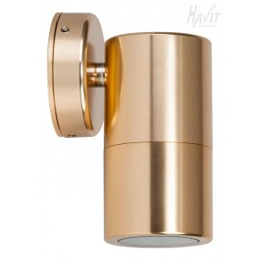 Single Fixed Wall Pillar Light in Gold Havit
