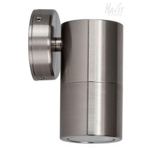 Single Fixed Wall Pillar Light in Marine Stainless Steel Havit