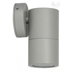 Single Fixed Wall Pillar Light in Matt Silver Havit