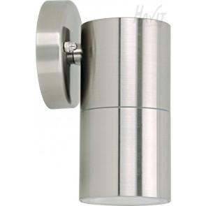 Single Fixed Wall Pillar Light in Stainless Steel Havit