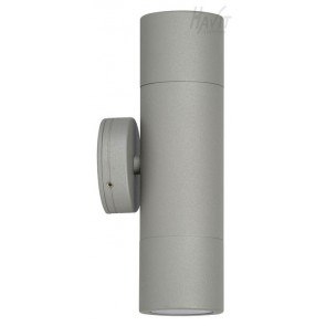 Up / Down Wall Pillar Light in Matt Silver Havit