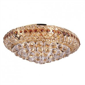 Beijing Close to Ceiling Crystal Nine Light Oyster Hermosa Lighting