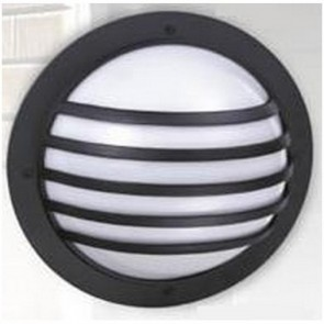 Bondi One Light Large Round Cage Exterior - Bunker Light in Australian Powder Coat Hermosa Lighting