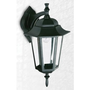 Byron Large Six Panel Down Outdoor Wall Lantern in Australian Powder Coat Hermosa Lighting