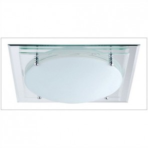 Glasgow One Light Square Mirror Flush Ceiling Light Hermosa Lighting