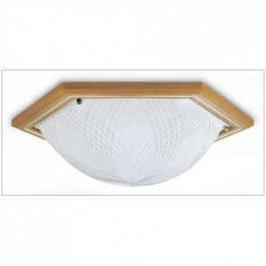 Scone Oyster Fluorescent Flush Mount with Natural Tri Phosphor Hermosa Lighting