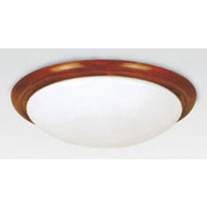 Tully Round Timber in Teak Hermosa Lighting