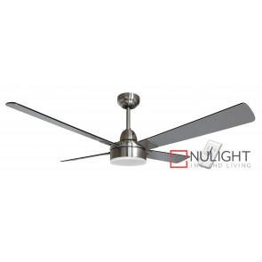 PHOENIX IQ - 48 inch 1200mm DC Energy Saving Ceiling Fan 4 Blade Timber -Silver- 15w LED Light And 9 Speed Remote Incl VTA