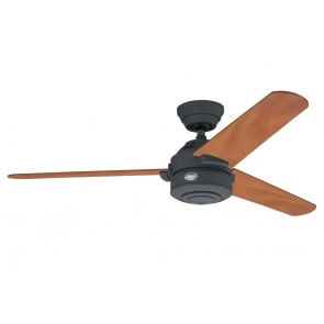Carera Maple Ceiling Fan in Graphite with Three Graphite / Medium Cherry Switch Blades Hunter Fans