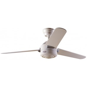 Carera Maple Ceiling Fan in White with Three White / Maple Switch Blades Hunter Fans