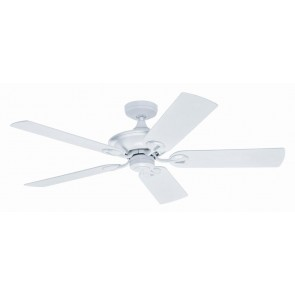 Maribel Ceiling Fan in White with Five Outdoor White Plastic Blades Hunter Fans